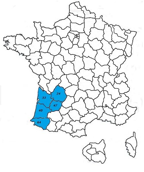 Code postal aquitaine codes postaux des villes et villages for La meziere code postal