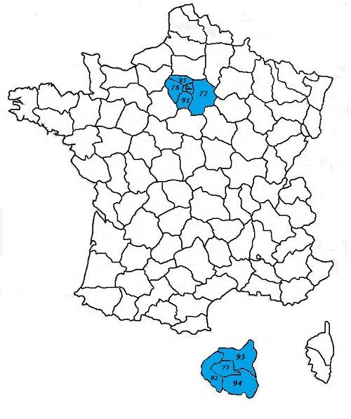 Code postal ile de france codes postaux des villes et for Homecourt code postal
