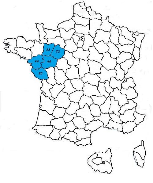 Code postal pays de la loire codes postaux des villes et for La meziere code postal